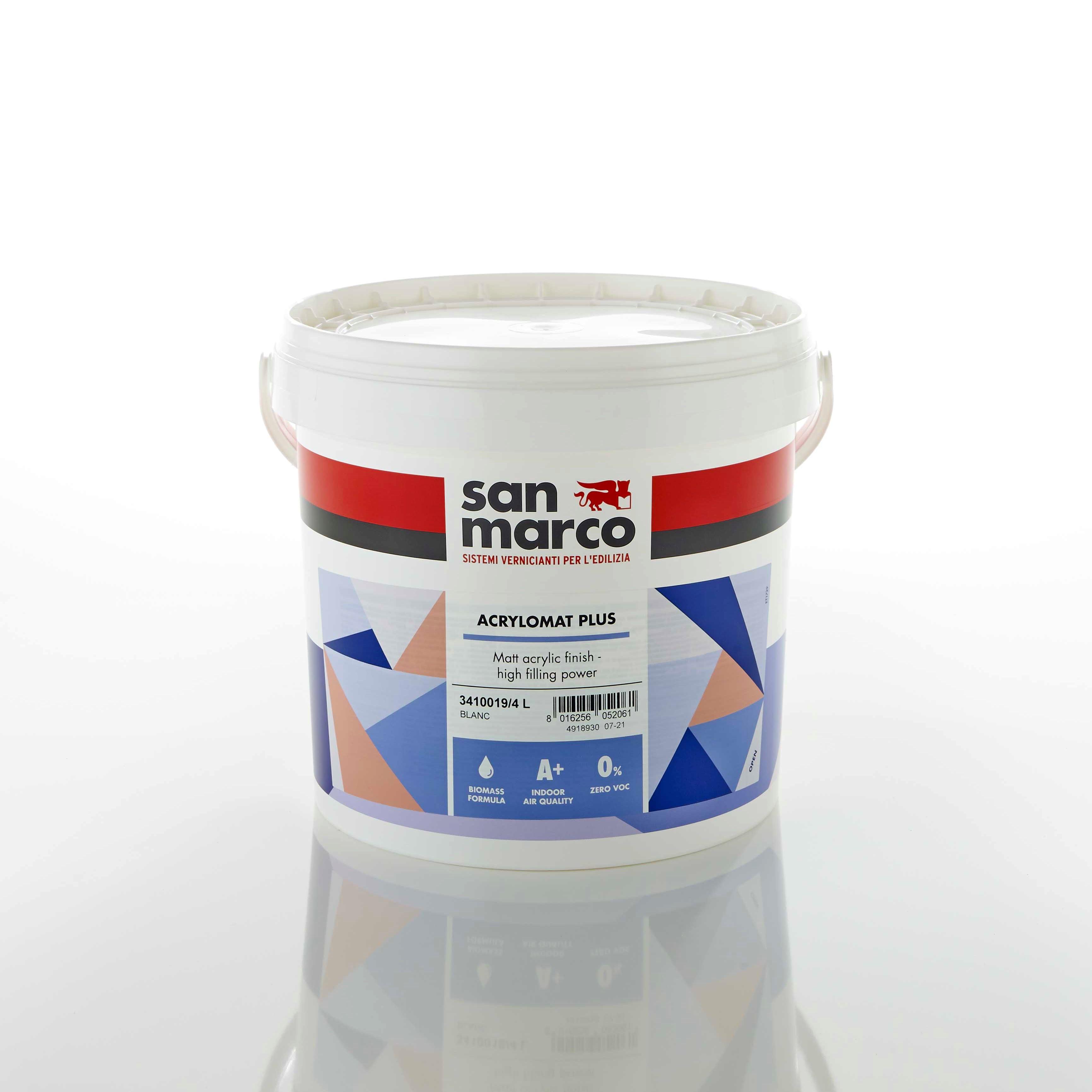 Матова акрилова фарба на водній основі Acrylomat Plus від San Marco / Матовая акриловая краска на водной основе Acrylomat Plus от San Marco